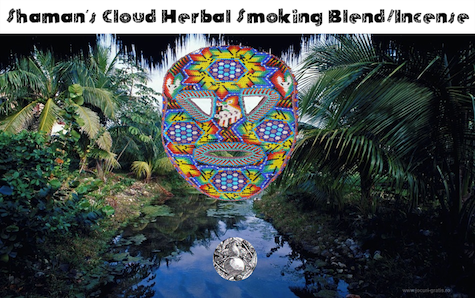 shamans cloud herbal smoking blend incense bottle gourd herbs