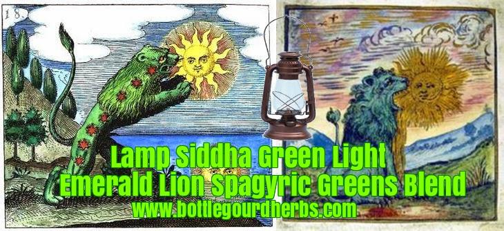 Lamp Siddha Green Light Emerald Lion Spagyric Greens Blend